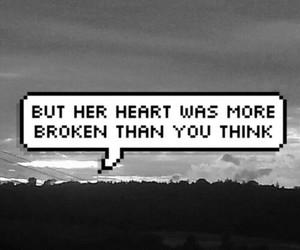 broken, heart, and sad image
