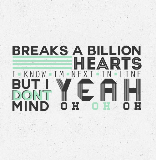 one direction, just can't let her go, and Lyrics image