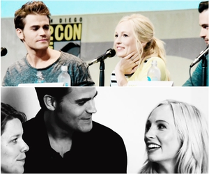 paul wesley, tvd, and candice accola image
