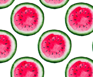 background, watermelon, and white image
