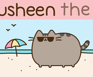 pusheen, cat, and summer image
