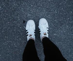 adidas, blackandwhite, and fashion image