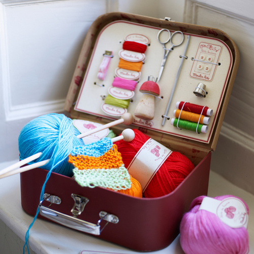 knitting, sewing, and thread image