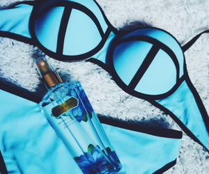 blue, summer, and bikini image