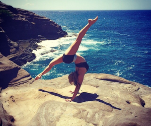 balance, flexible, and beach image