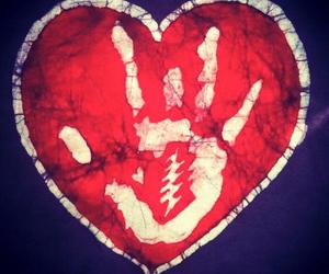 heart, heart shape, and hand print image