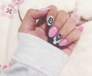 almond, nails, and white image