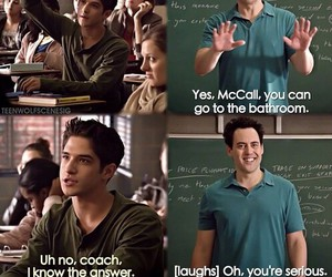 teen wolf, scott mccall, and coach image