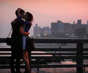 city, sunset, and relationship goals image