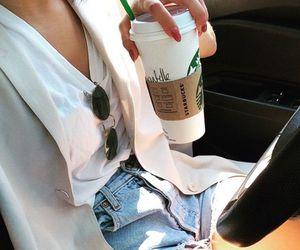 car, coffee, and sunglasses image