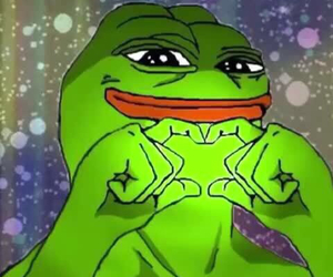 pepe the frog and love image