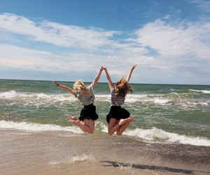 beach, friends, and bff image
