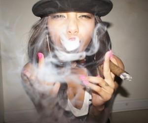 girl, scene, and marihuana image
