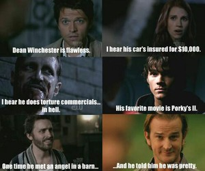 dean winchester, lol funny, and sam winchester image