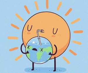 sun, earth, and funny image