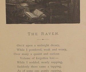 edgar allan poe, poetry, and the raven image