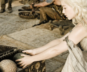 dragons, game of thrones, and khaleesi image