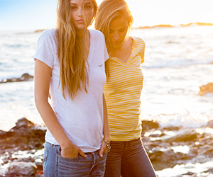 fashion, jeans, and ocean image