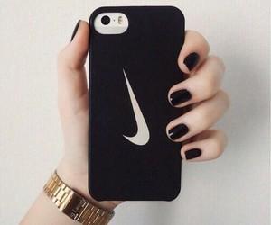 nike, black, and iphone image