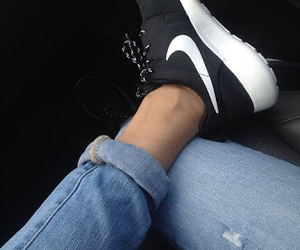 nike, shoes, and jeans image