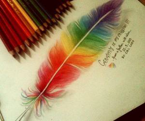 art, feather, and colorful image