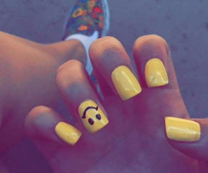 nails, smiley, and yellow image