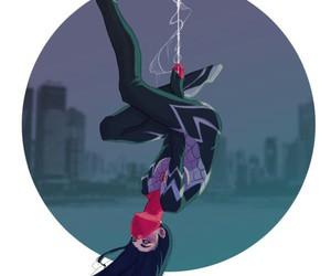 Marvel, silk, and spider man image