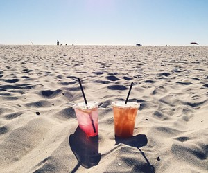beach, inspo, and drink image