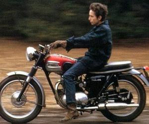 bob dylan and motorcycle image