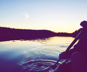 beautiful, canoe, and forest image
