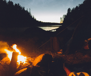bal, camp, and campfire image
