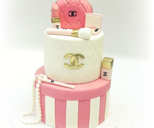 bag, nail polish, and cake image