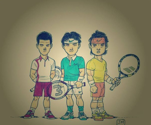 novak djokovic, Rafael Nadal, and roger federer image
