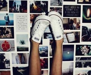 converse, pictures, and polaroid image