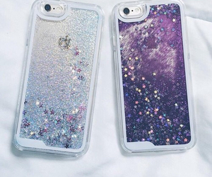 iphone, case, and glitter image