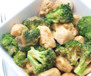asian, broccoli, and peanut butter image