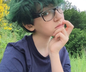 alternative, green hair, and indie image