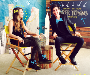 nat wolff, paper towns, and cara delevingne image