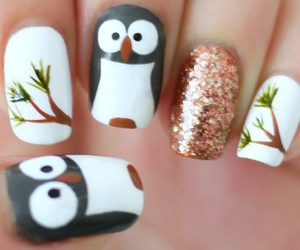 nails, owl, and penguin image