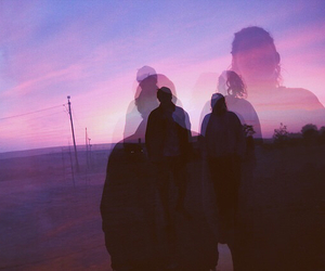 purple, grunge, and couple image