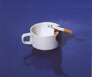 coffee, blue, and cigarette image