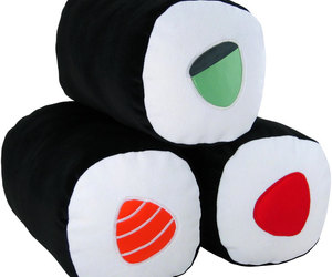 sushi, funny, and pillows image