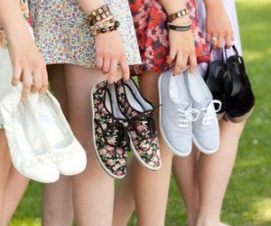 shoes, girl, and friends image
