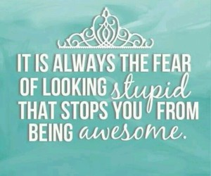 blue, fear, and quote image