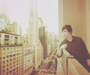 logan lerman, boy, and city image