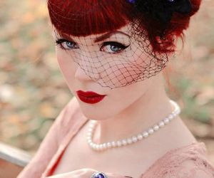 Pin Up, redhead, and vintage image