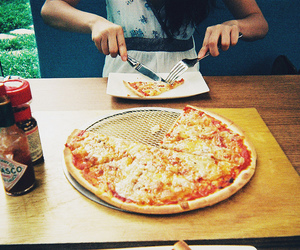 pizza, food, and vintage image