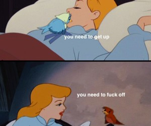 cinderella, fuck off, and words image