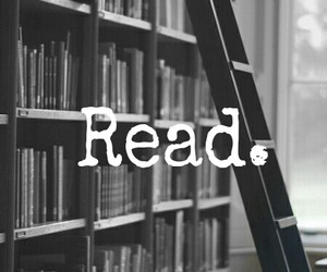 black and white, read, and love image