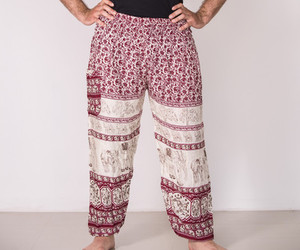 harem pants, mens, and red color image